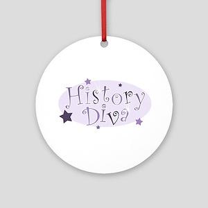 """""""History Diva"""" [purple] Ornament (Round)"""